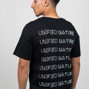 Unified-Nature-Freehand-Backprint-Tee-Black-Model