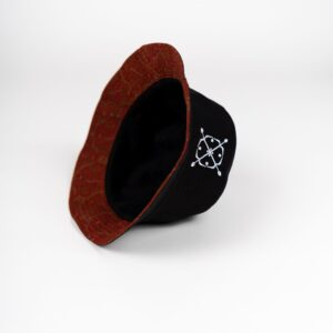 Bucket Hat Batik Red Inside
