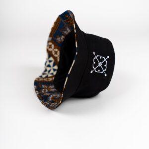 Bucket Hat Batik Blue Inside